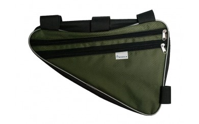 Велосумка на раму STELS большая вс 022 серебристо-зеленая