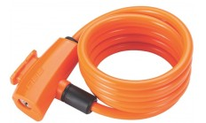 Замок велосипедный BBB QuickSafe 8mm x 1500mm coil cable orange оранжевый